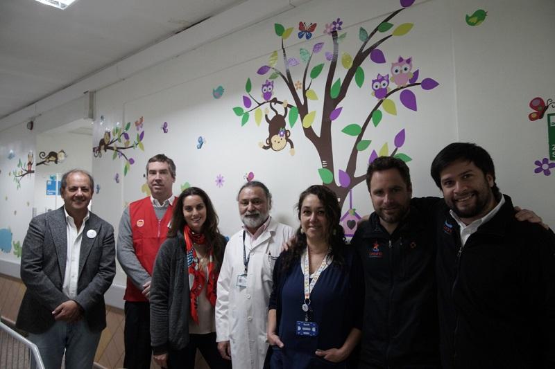 Easy y Desafío Levantemos Chile remodelan el 100% del Área Pediátrica del Hospital Sótero del Río