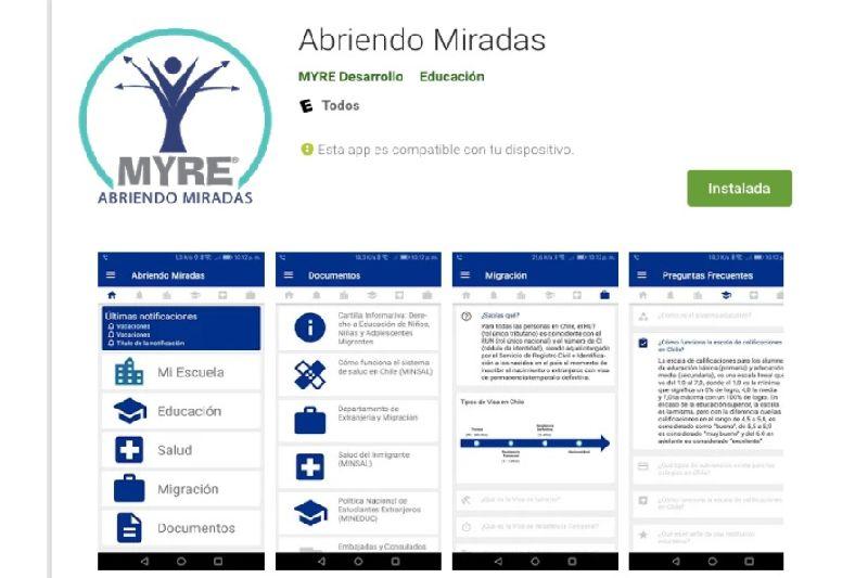 Crean aplicación que acompaña a familias migrantes en el proceso de enseñanza y aprendizaje desde las escuelas